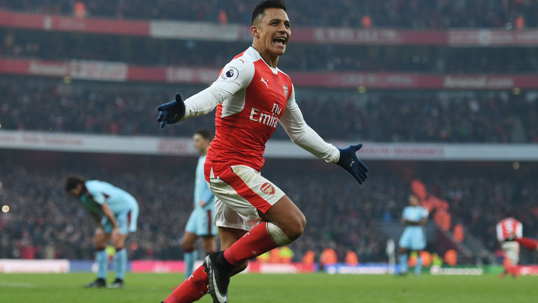 Alexis Sanchez scored 29 and assisted 18 goals this season