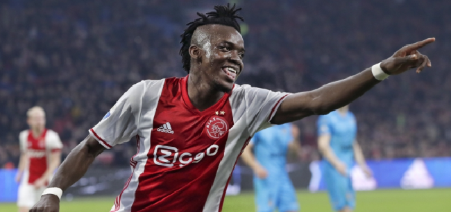 Bertrand Traore scored twice in the 1st leg home win