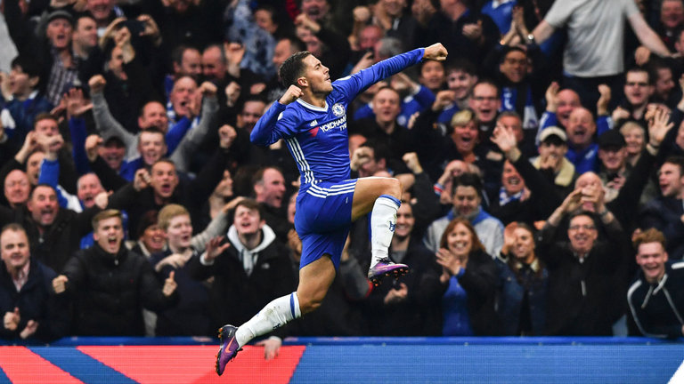 Eden Hazard has been pivotal in Chelsea's charge for the title