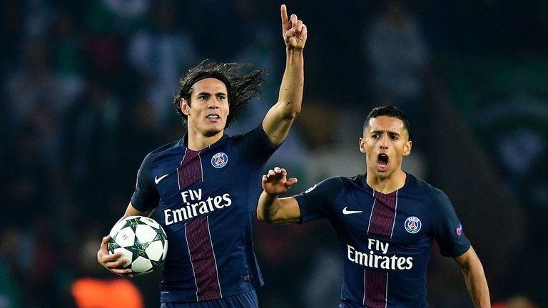 Edinson Cavani has scored 35 goals in Ligue 1 this season