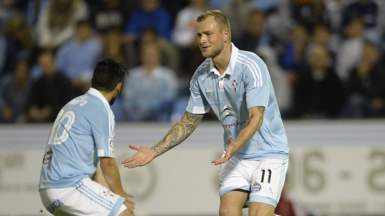 John Guidetti will try to provide the goal threat against Manchester United