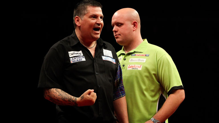 Michael van Gerwen can seal top spot with a victory against Gary Anderson
