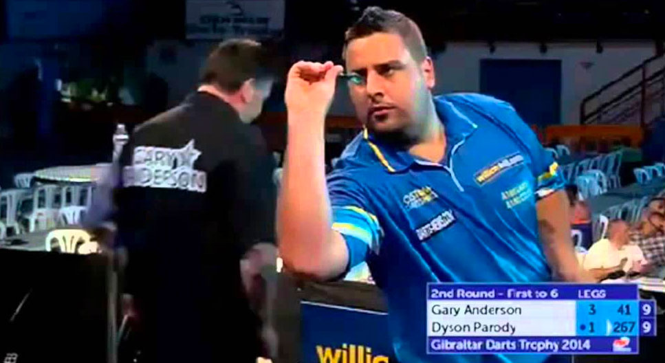 Parody Dyson of Gibraltar ranked 150 in the world will be looking to make his mark in day two of the 2017 World Cup of Darts