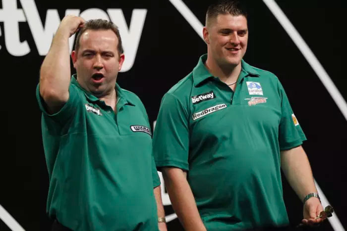 Brendan Dolan & Daryl Gurney will be representing Northern Ireland at Day Two of the 2017 World Cup of Darts. Photo Credit: Lawrence Lustig/PDC